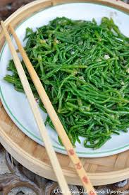 salicorne cuisine salicornes sautées à l asiatique cuisine food