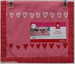 valentine s day table runner valentine s day red paradise pink table runner with hearts 14x48