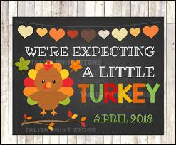 we re expecting a turkey fall thanksgiving baby reveal