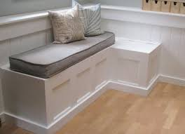 Corner Storage Bench Seat Plans by Bedroom Impressive White Storage Bench With Cushion Treenovation