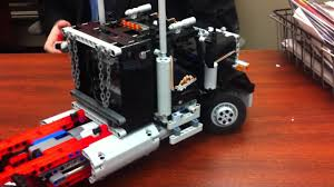 kenworth truck engines our intern builds a lego log truck then puts a new engine in