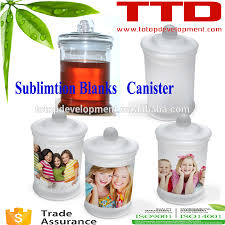 transparent sublimation blanks ceramic canister set kitchen oil