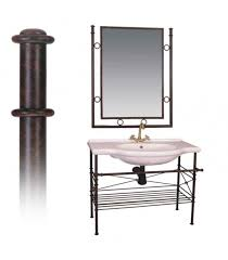 Wrought Iron Bathroom Furniture Offer Wrought Iron Bathroom Furniture And Mirror Vintage Design
