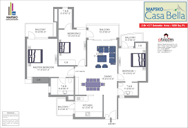 Casa Bella Floor Plan Mapsko Casa Bella Sector 82 Gurgaon