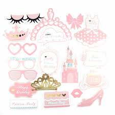 princess baby shower 20 pcs pink princess baby shower girl photo booth props bridal