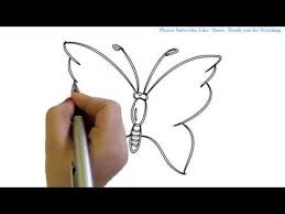 how to draw a simple butterfly yzarts yzarts