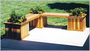 Landscape Timber Bench Planters Doug U0027s Woodcrafts U0026 Patterns