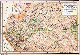 New York On Map New York City Central Brooklyn Rider 1916 On Map Of Ny Streets
