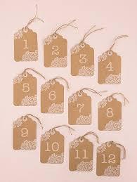 numero table mariage 12 numéros de table etiquettes kraft mariage marque table mariage