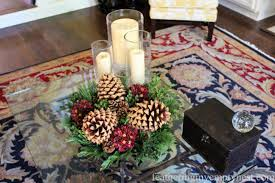 table arrangements easy fall to christmas coffee table arrangements feathering my