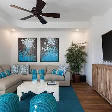 turquoise blue and grey living room design ideas