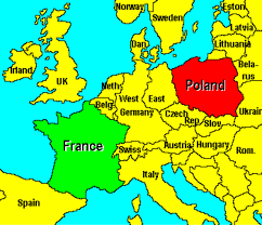 Map Of Germany And Poland by