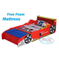 Child Bed Frame Boys Racing Car Single Bed Frame Child Beds Mattress Toddler