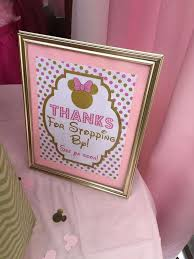 Pink And Black Minnie Mouse Decorations 14 Best Pink U0026 Gold Minnie Mouse Party By Lysi Images On Pinterest