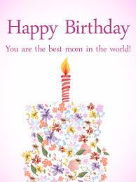 to the best mom birthday flower cake card birthday u0026 greeting