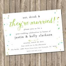 invitation wording for party after destination wedding image