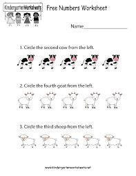 free numbers worksheet free kindergarten math worksheet for kids