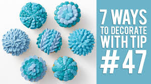 decorate pictures 7 ways to decorate cupcakes using tip 47 youtube