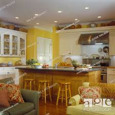 yellow kitchen walls white cabinets kitchens view from family room yellow walls custom made