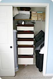 using all of the closet space from thrifty decor