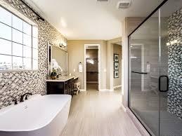 traditional master bathroom with flush u0026 freestanding bathtub