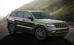 grey jeep grand cherokee 2016 75th anniversary jeep models suit up in green and bronze news