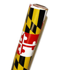 yellow wrapping paper maryland flag wrapping paper route one apparel