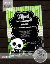 printable boy panda birthday invitation you print boys