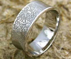 fingerprint wedding bands wedding band