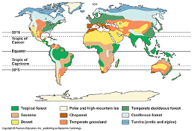 biomes map mrbgeography introductions 5 climate biomes and ecosystems