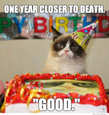Grumpy Cat Meme Happy - sexy memes happy birthday grumpy cat one year closer to death