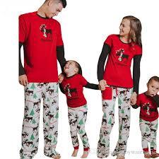 2017 newest pajamas family look elk tree