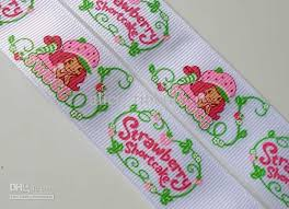 strawberry shortcake ribbon 2018 wholesale 1 strawberry shortcake grosgrain ribbon printed