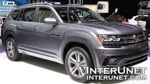 atlas volkswagen white 2018 volkswagen atlas r line new 7 passenger suv youtube
