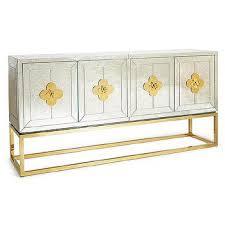 Cb2 Credenza Storage Furniture Mirror Glass Credenza