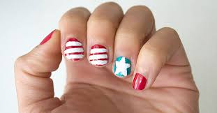 picture perfect patriotic nail art the dollar tree blog