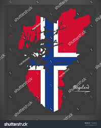 rogaland map norway norwegian national flag stock vector 713646943