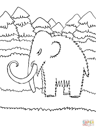 cute baby mammoth coloring page free printable coloring pages