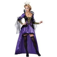 Victorian Halloween Costumes Women Purple Vintage Witch Queen Halloween Costumes Fantasia Fancy