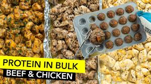 how to cook protein in bulk chicken beef meal prep cocer