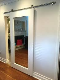 Slidding Closet Doors Barn Door With Mirror Magnificent Barn Door Hardware Modern