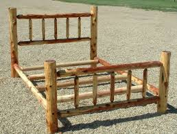 best 25 log bed frame ideas on pinterest log bed timber bed