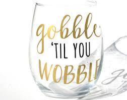 thanksgiving wine glasses etsy