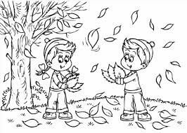 autumn animals coloring page free printable pages throughout