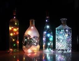 Diy Halloween Lights by Amazon Com Cosoon Set Of 6 Wine Bottle Cork Lights Copper String