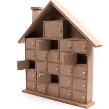 wood advent calendar wooden house advent calendar 40 cm hobbycraft to buy