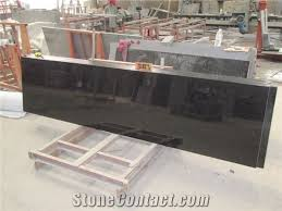 Black Granite Bench Tops Indian Popular Cheap Absolute Black Galaxy Granite Polished