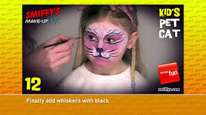 cat face painting make up tutorials for children youtube