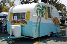 Retro Camper It Was A Boring Old Trailer U2014 Until She Grabbed A Paintbrush And