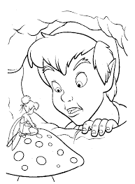 disney peter pan tinkerbell coloring color pages